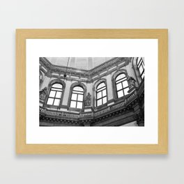 No church in wild bw Framed Art Print