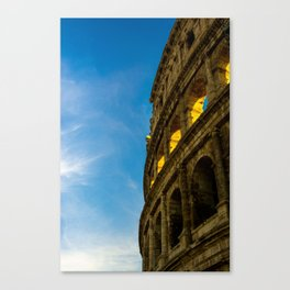 Sunset Hitting The Roman Colosseum Canvas Print