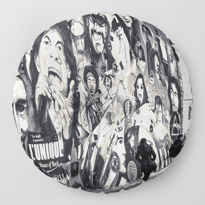 Rock n Roll Streets Floor Pillow