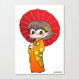 Eva in Kimono Canvas Print