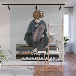 See you on a dark night - Visions - portrait of musician Grimes Wall Mural