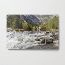 Mirror Lake and Rapids at Yosemite Metal Print