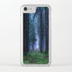 Green Magic Forest Clear iPhone Case