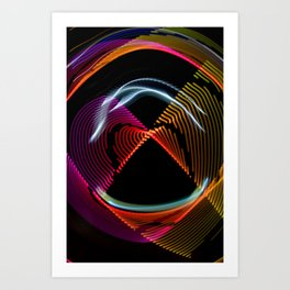Experiments in Light Abstraction 1 Art Print