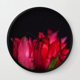 red tulip5 Wall Clock
