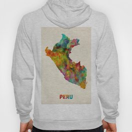 Peru Watercolor Map Hoody