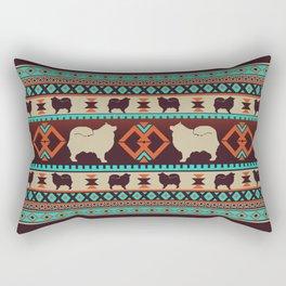 Boho dogs | Finnish lapphund/Suomenlapinkoira sunset Rectangular Pillow