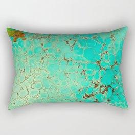 Crackeled Turquoise Stone Rectangular Pillow