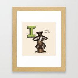 Animals & Instruments ABCs – I Framed Art Print