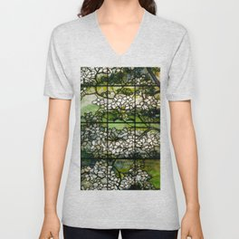 Louis Comfort Tiffany - Decorative stained glass 2. Unisex V-Neck