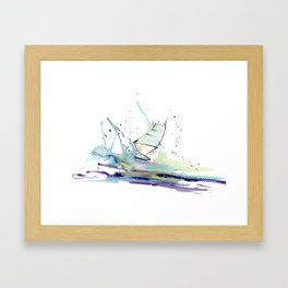 Windurfer - Surfart in watercolor - Surf Decor Framed Art Print