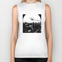 airplane Biker Tanks featuring airplane by Anand Brai