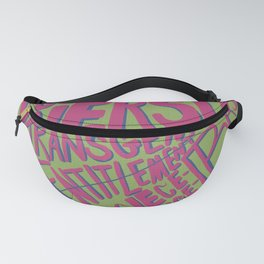 Words to be spoken Fanny Pack