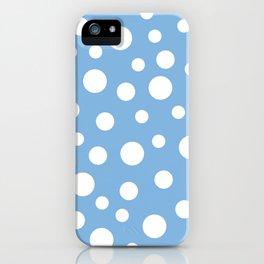 Crazy Dots: Placid Blue iPhone Case