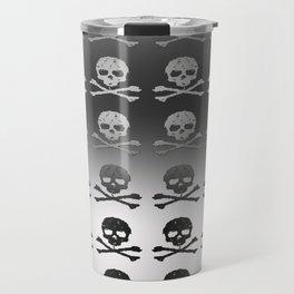 Skull and XBones - Smaller: Metal and Slight Pink Travel Mug