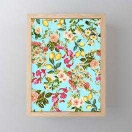 Lemon and Leaf Pattern IV Framed Mini Art Print