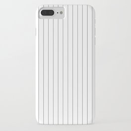 White And Black Pinstripes Lines Stripes Minimalist Stripe Line iPhone Case