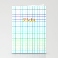tetris Stationery Cards featuring TETRIS by SMOKESINATRA