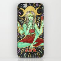 tarot iPhone & iPod Skins featuring Tarot Reader by VanessaMacias
