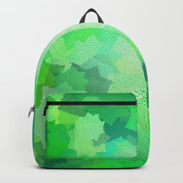 Nine Pointed Stars - Green Backpack