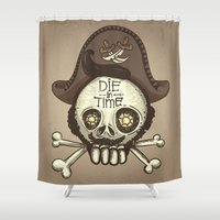 pirate Shower Curtains featuring pirate by adi katz