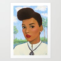monet Art Prints featuring Janelle Monet by Sayada Ramdial