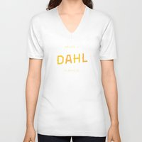 roald dahl V-neck T-shirts featuring Dahl Playfield by Parks of Seattle