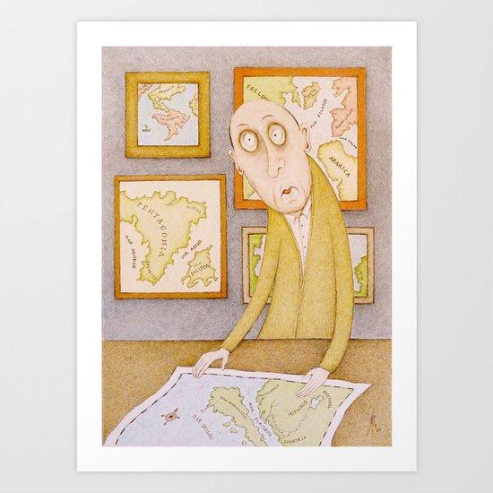 The Cartographer Art Print