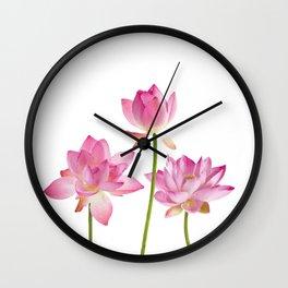 Lotos Waterlilies Flowes pink Wall Clock
