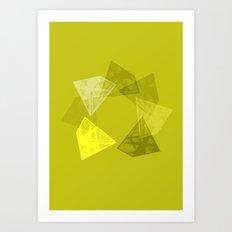 Crystal Round I Art Print