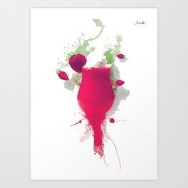 Sorbet fraises chantilly painting colors fashion Jacob's Paris Art Print