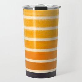 Yellow Ocher Mid Century Pattern Travel Mug