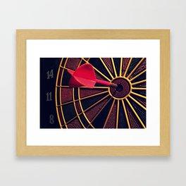 Dart Board Framed Art Print