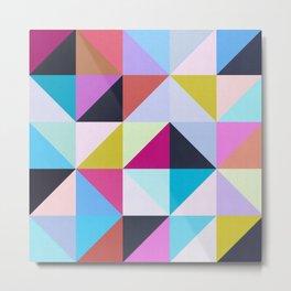 Colored squares pattern Metal Print