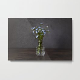 Forget-Me-Not Still Life Metal Print