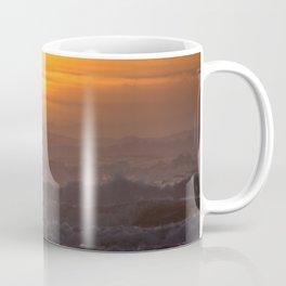 Close-up of Sun Settings Over Ocean Waves Coffee Mug