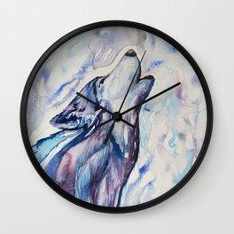 Wolf Howl Wall Clock