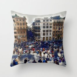 The Spanish Steps 4138 - Rome, Italy Throw Pillow