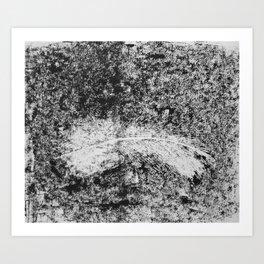 Feather Printwork Art Print