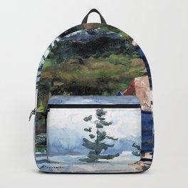 Winslow Homer1 - The Blue Boat - Digital Remastered Edition Backpack
