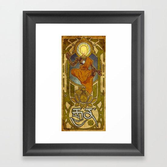 Enlightened Filament Framed Art Print