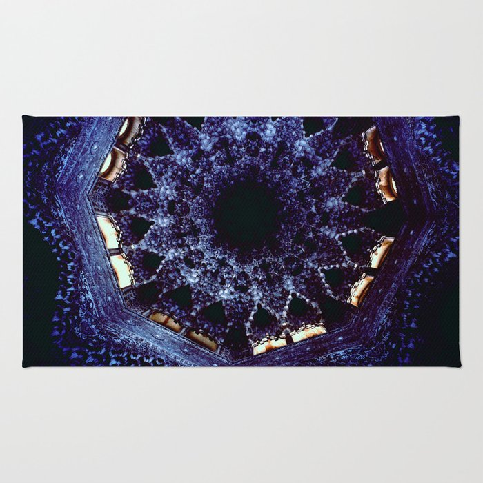 Looking Up Stalactite Dome, Alhambra Rug
