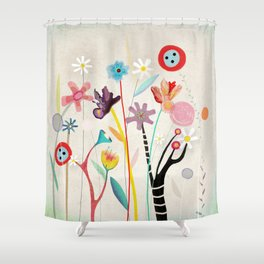 Merry Christmas Bird  Shower Curtain
