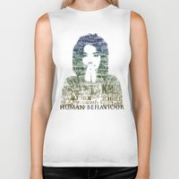 bjork Biker Tanks featuring Bjork Human Behaviour  by b_ethany