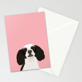Best Pet Friend Black + White Cocker Spaniel Dog Stationery Cards