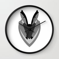 badger Wall Clocks featuring Badger by Watch House Design