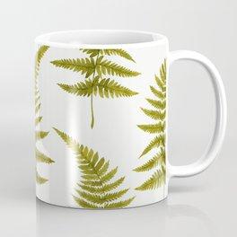 Green Watercolor Fern Pattern Coffee Mug