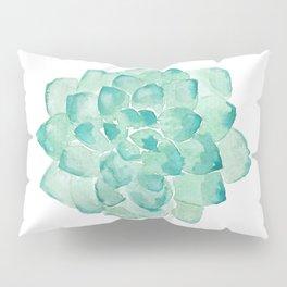 Watercolor Succulent print in seafoam green Pillow Sham