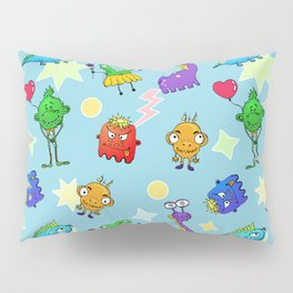 Monsters family Pillow Sham