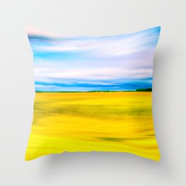 Golden Farm Fields Of The English Countryside In Spring Throw Pillow